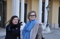 Journalistin Hedi Grager im Interview mit Herta Margarete Habsburg-Lothringen. (Foto Reinhard Sudy)