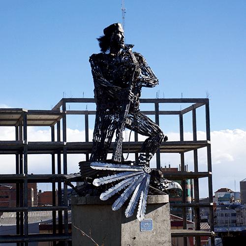 La Paz Bolivie / Statue Che Guevara