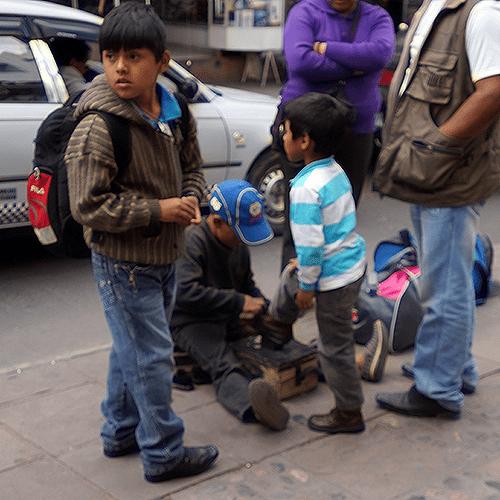 Sucre Bolivie - Cireurs