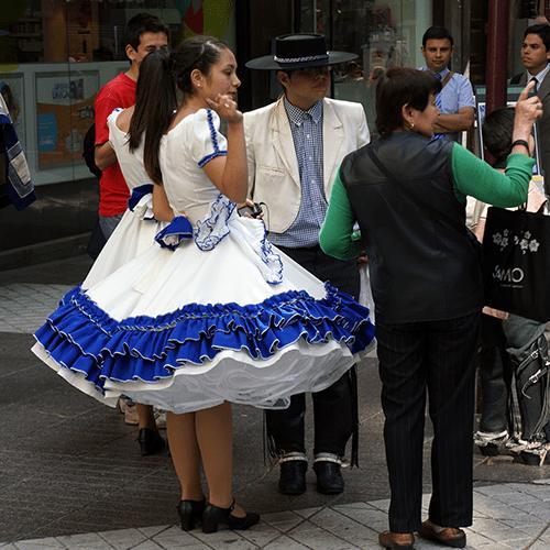 Chili - Santiago / Spectacle de rue