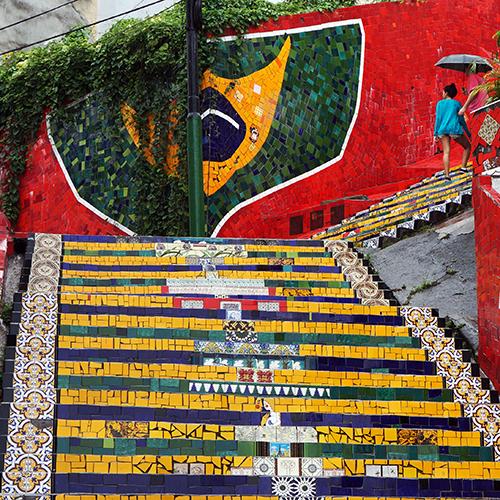 Brésil - Rio de Janeiro / Escalier Selarón