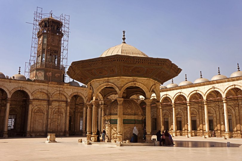 Cour de la mosquée Mohammed Ali