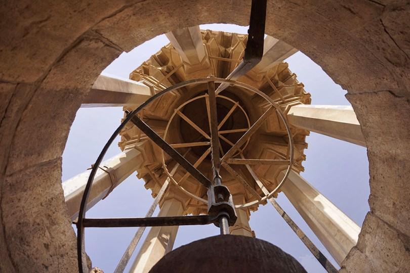 Sommet d'une des tours jumelles de Bab Zuweila