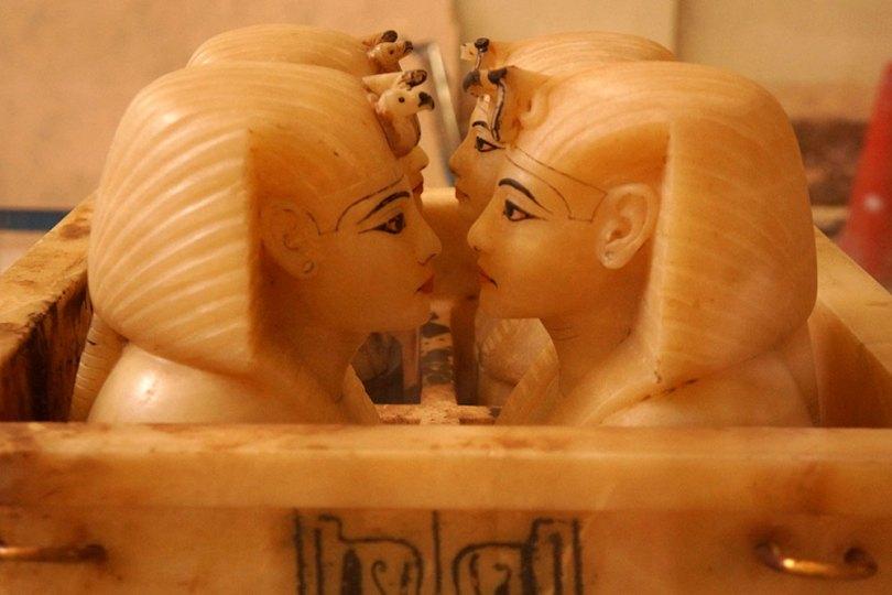 Musée égyptien du Caire - Vases canopes de Toutânkhamon