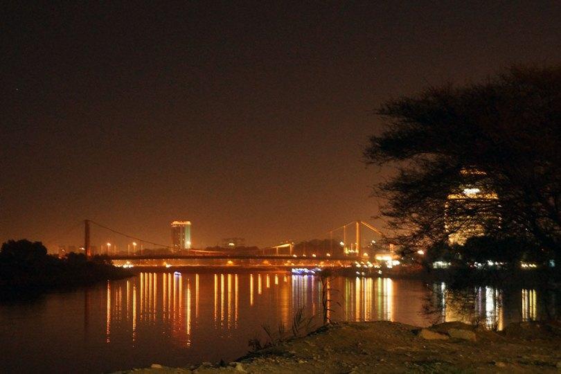 Soudan : Khartoum - pont de l'île de Tuti
