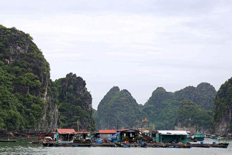 Baie de Ha Long - Village flottant