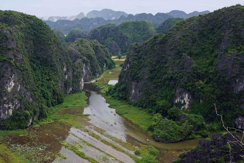 Tam Coc - Vue de Hang Mua