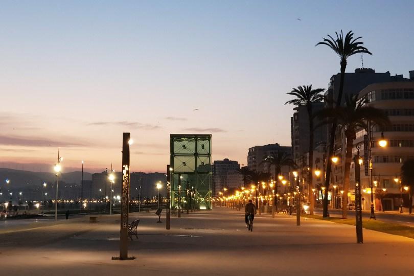 Hiver à Tanger - Corniche au réveil