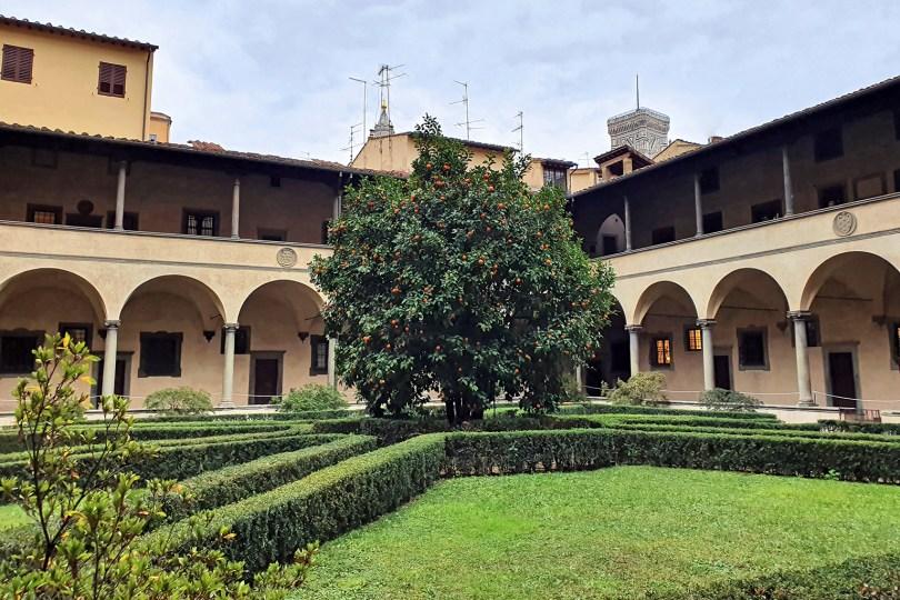Florence : Cloître Basilique San-Lorenzo