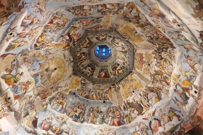 Florence : fresques du jugement dernier, coupole de la Cathédrale Santa Maria del Fiore
