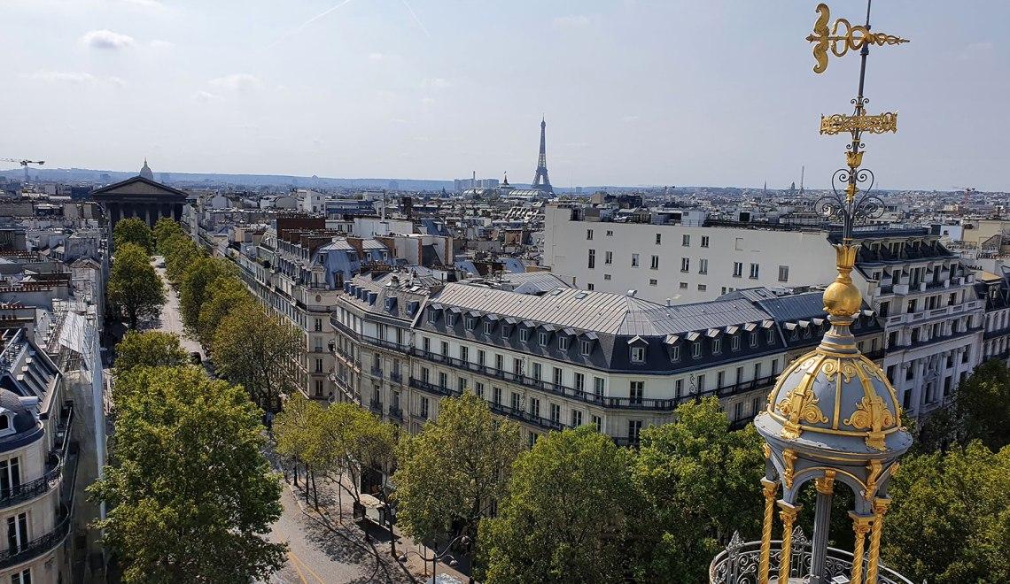 Paris - Vue du toit terrasse du Printemps Haussmann