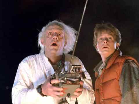 Doc Brown is trying to identify location of his car