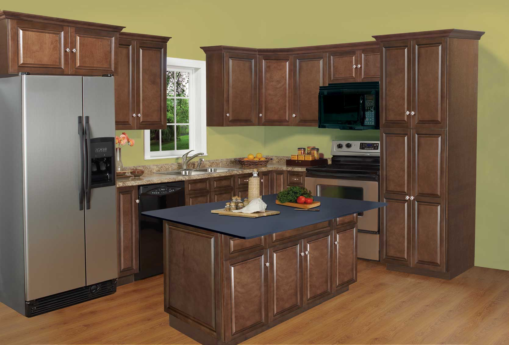 Richmond Auburn Maple Kitchen Cabinets Assembly Required