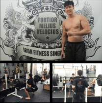Singapore fitness blogger heechai Training at Iron Fitness Singapore