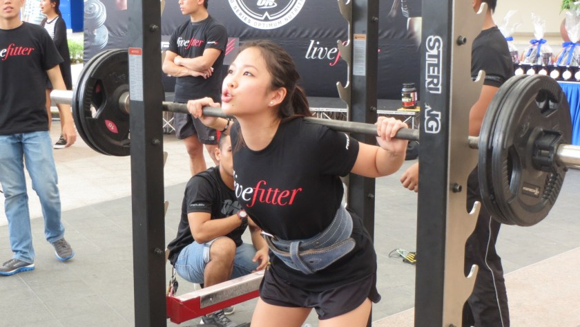 livefitter singapore squat challenge