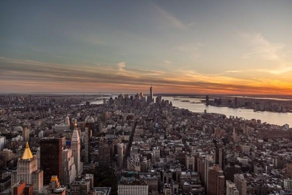 New York: Vanaf het Empire State Building kan je mooie foto's maken. Wel druk altijd, maar je kan je camera op het randje zetten (hou wel je band in je hand, je wil niet dat je camera naar beneden valt…)