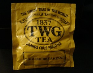 TWG tea bags courtesy of Conrad Centennial Singapore