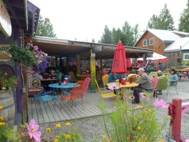 Mountain High Pizza Company porch, Talkeetna, AK