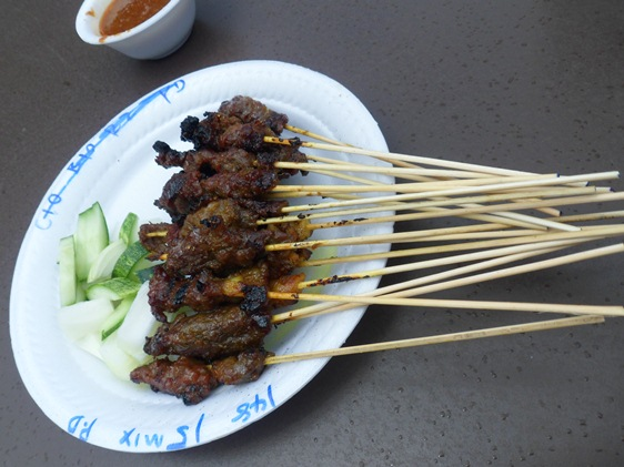 East Lagoon Food Village hawker stall satay