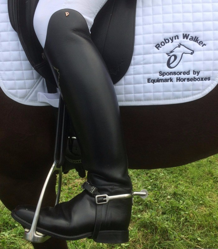 Image of Robyn Walker's new black diamante spur straps