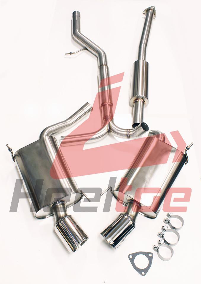 xlr8 performance cat back performance exhaust system dual single tips 2004 08 acura tl ua6 non resonated exh ua6 nr