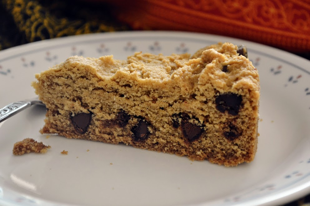 Chocolate Chip Cookie Cake (Gluten Free)