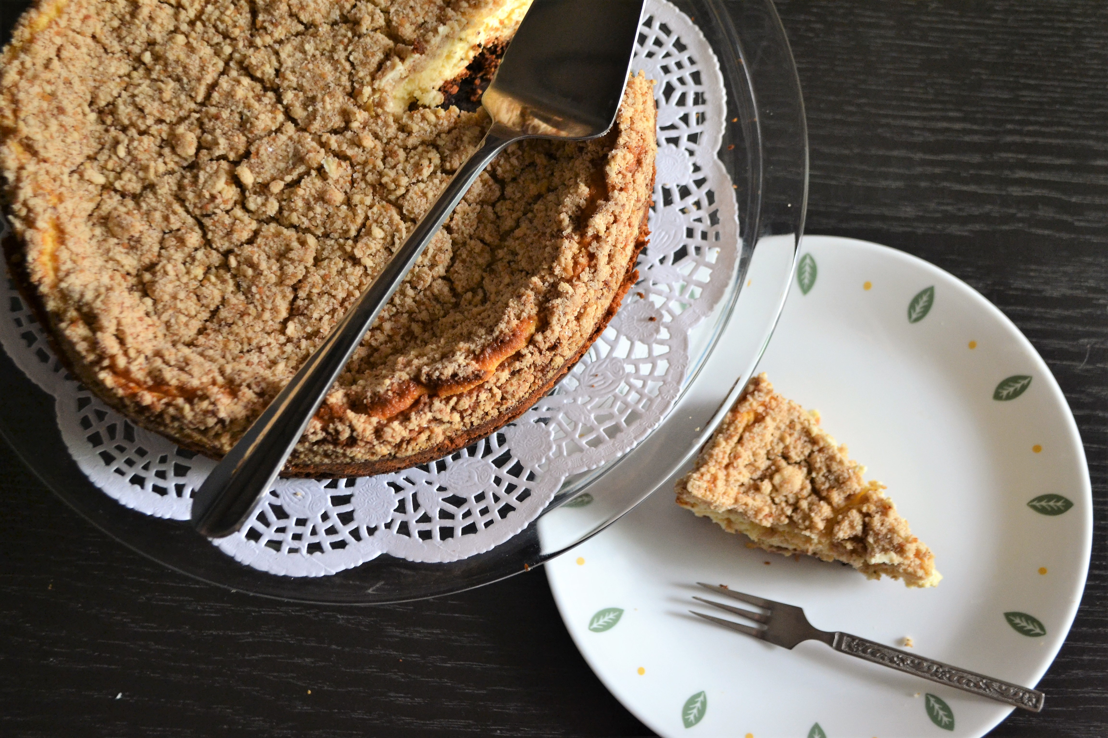 Apple Crumble Cheesecake (Gluten Free)