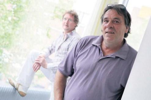 Bron: Limburgs Dagblad   Fotograaf Wim Langhor   Links Jan-Willem Souren, rechts Harrie Sevriens