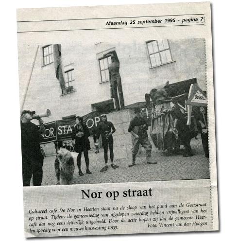 Kranten artikel: Nor op Straat