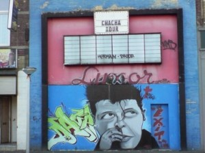 Bron: Zwartgoud.net | Herman Brood schildering <br/>in Hoensbroek