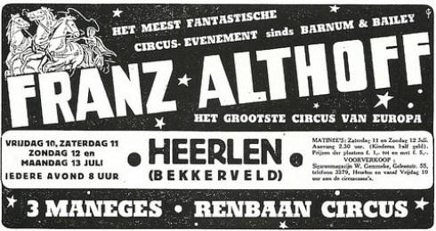 Bron: Privé collectie John Bovendeert | Advertentie Limburgsch Dagblad 6 juli 1953