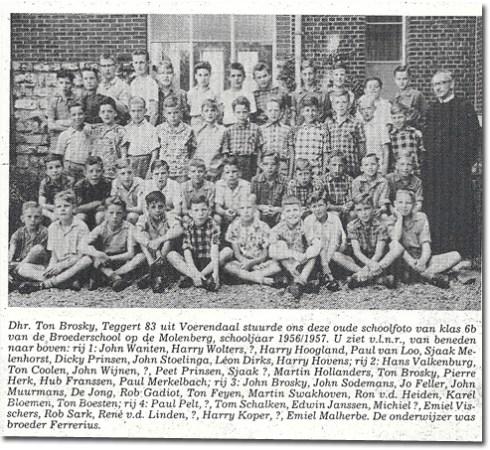 Bron: Trompetter | Foto van de 6de klas Broederschool uit 'de Trompetter' van september 1983
