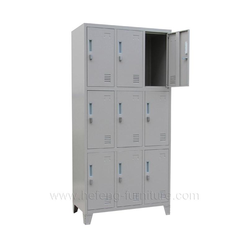 9 Door Uniform Lockers  Luoyang Hefeng Furniture