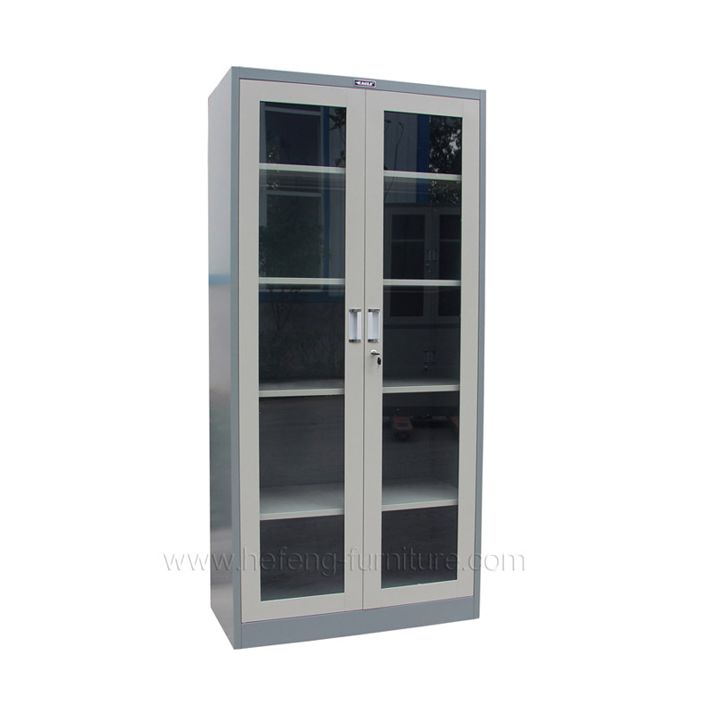 Glass Door Office Cupboard