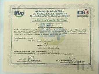 Licencia de habilitación provisional