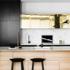 Gold Kitchen Island Hood Inspiration Hege In France Black White And