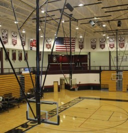 Lambert Gym - with banners and band