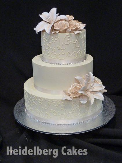 Wedding Buttercream 1 Textured Heidelberg Cakes