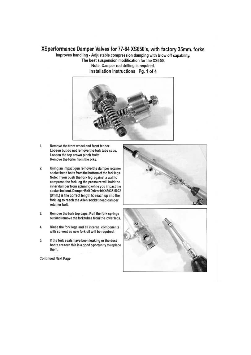Fork Seals, Springs : Front Fork Damper Valve Set