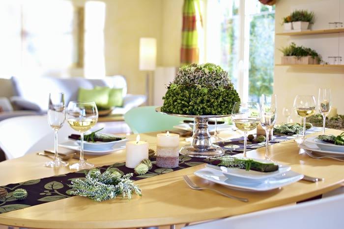 TischDekorationen mit Heide  Heidetrends