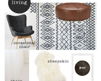 Living room mood board / www.heidiandcoco.com
