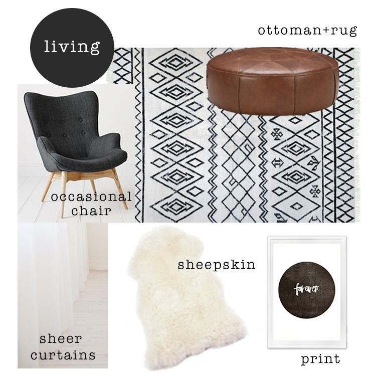 Living room mood board / www.heidiandcoco.com