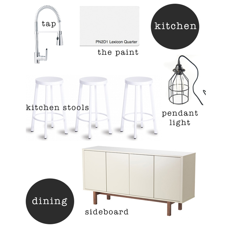 Kitchen + dining mood board / www.heidiandcoco.com