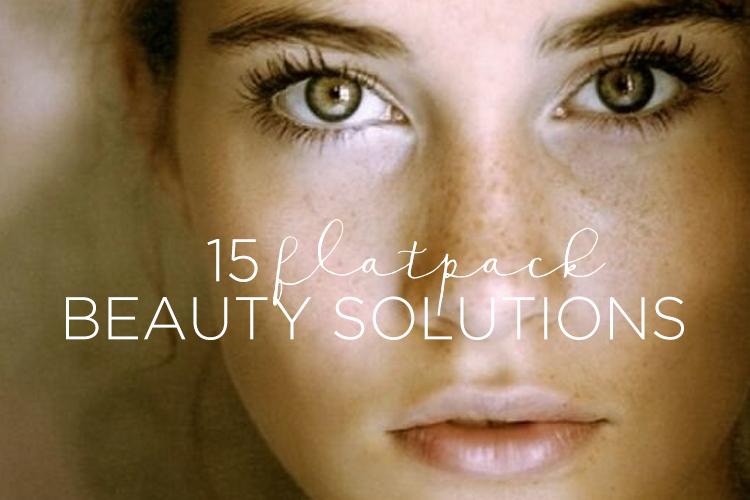 Flatpack beauty solutions / www.heidiandcoco.com