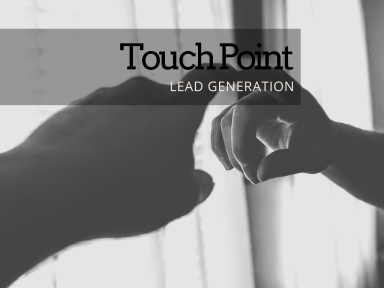 Touch point e lead generation