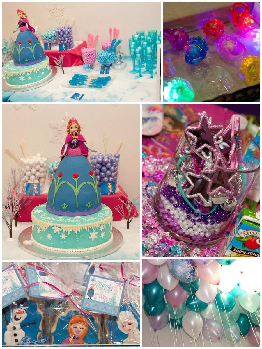 A Frozen Party Fit For Two Princesses Kids Birthday Party