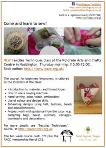 class poster for textile techniques week 2