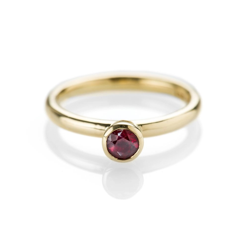 Heidi Kjeldsen Ravishing Ruby and 18ct Yellow Gold Stacking Ring
