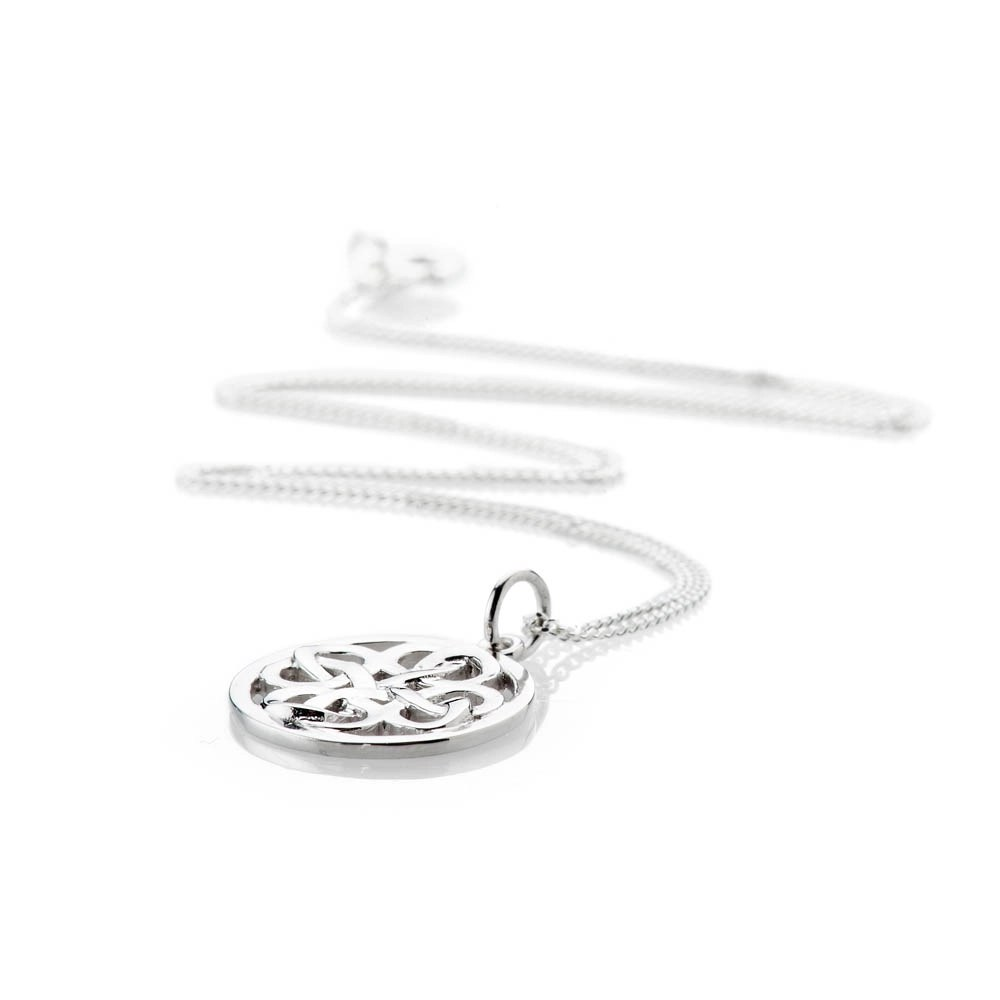 Heidi Kjeldsen Striking Sterling Silver Viking Love Knot Small Pendant - P1229-1