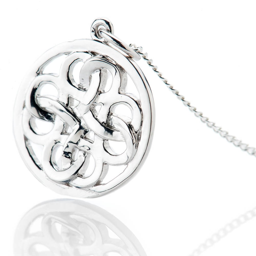 Striking Sterling Silver Viking Love Knot Small Pendant